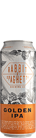 Rabbit & Spaghetti Golden IPA Beer x 2 cans